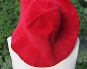 Vintage GORGEOUS Hand Made Borsalino Felted Hat from Italy - RED