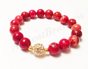 Sun Fire Gold Stretch Beaded Bracelet