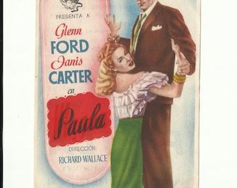 Free shipping-Vintage film flyer - Framed (Paula) - 1947