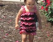 Minnie Mouse romper - Petti Romper - Girls Romper - Baby Romper - Ruffle Romper - Baby Outfit - Minnie Birthday Outfit