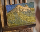 Tolkien ACEO - The Lonely Mountain, Erebor 2