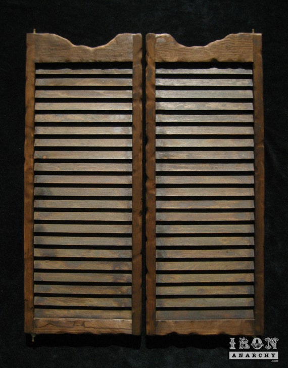 Aged Western Saloon Doors Swinging Bar Pub Cafe Ranch Vintage