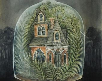 "Print - ""The Gardener's Cottage"""
