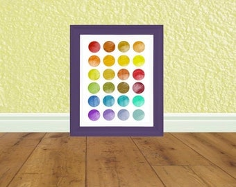 Rainbow Kids Art - Kids Bedroom - Art Print - Digital File - Instant Download - Printable Art
