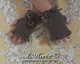 Crochet Frilly Fingerless Gloves - PATTERN ONLY