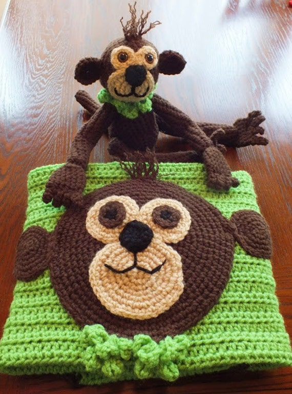 Cuddle Up Monkey and a Blankie too