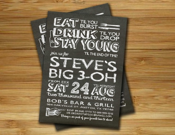 30Th Birthday Invitations For Him – Male 30th Birthday Invitations