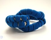 Electric Blue Woven Jersey Fabric Bracelet