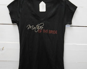 Mother of the Bride T-Shirt. Bridal Party V-Neck T-Shirt. Mother of the Groom T-Shirt. Tee Shirt. Bridal Party Shirts.