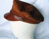 Vintage leather hat Steampunk must have