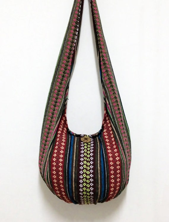 Woven Cotton Bag Hippie bag Hobo Boho bag Shoulder bag Sling