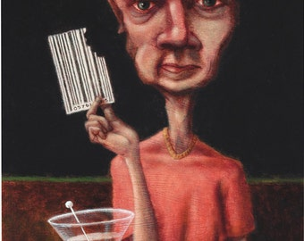 Lowbrow Pop surrealism original painting by Pete Gorski titled: Filling the Void