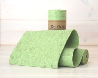 "Thick Wool Felt Roll - Color: Pistachio - Heather Wool Felt Rolls - ""5  X 36"" - 1 Yard Long - 1 Roll"