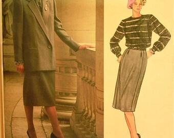 """Dior Suit - 1980's - Vogue Paris Original Pattern 1600 Uncut   Size  14  Bust  36"""""""