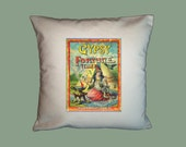 Vintage Gypsy Fortune Teller Poster  16x16 Handmade Pillow Cover - Choice of Fabric