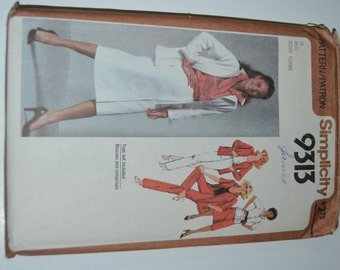 Simplicity 9313 Misses Jacket Pants and Skirt Sewing Pattern - UNCUT - Size 16