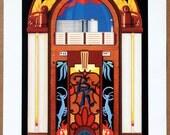 "Vintage 1980s Graphic Arts Show Poster  ""Jukebox""  17"" x  24"""