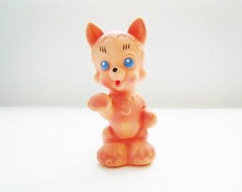 Vintage Soviet children's rubbery toy Cat