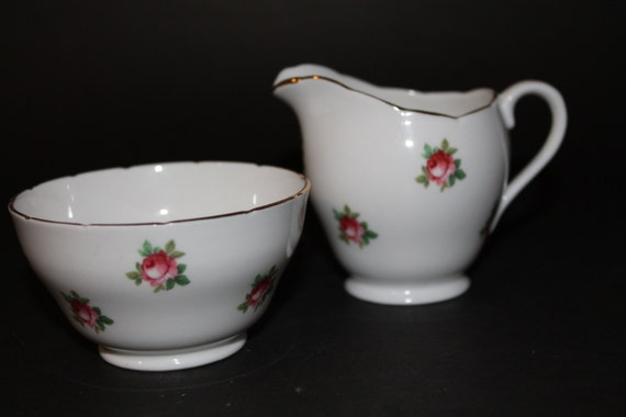 Royal Adderley Fine Bone China Cream and Sugar Set.