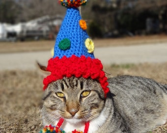 Pet Birthday Hat, Party Hat for Cats, Party Hat for Dogs, Cat Birthday Hat, Dog Birthday Hat