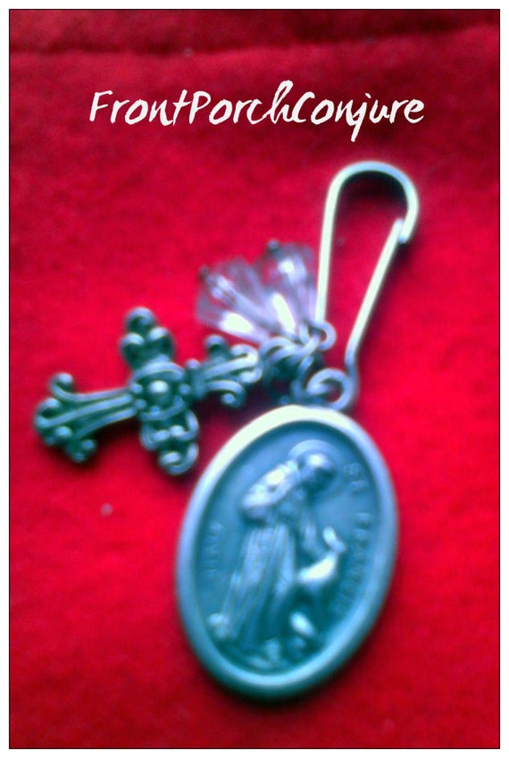 st francis of assisi charm pet protection by frontporchconjure