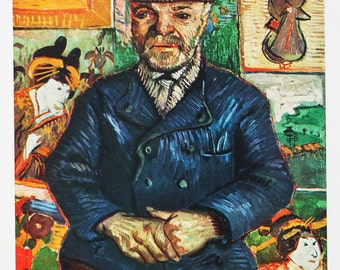 """On sale: 1952 Vincent van Gogh """"Pere Tanguy"""" 1887 reproduction print"""