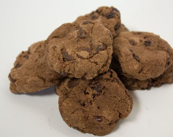 FREE SHIPPING - Double Chocolate Cherry Cookies - 24 cookies