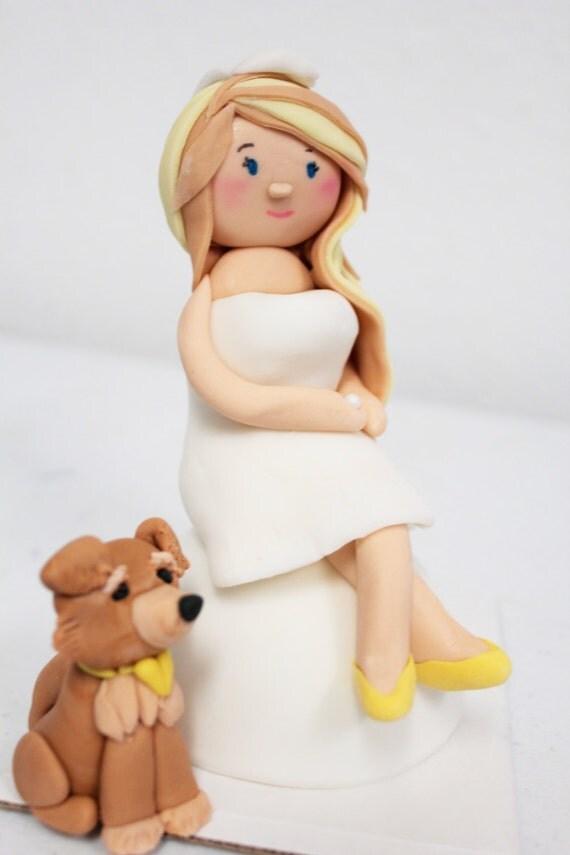 Fondant Cake Topper Girl Bride Birthday Girl Graduate 1