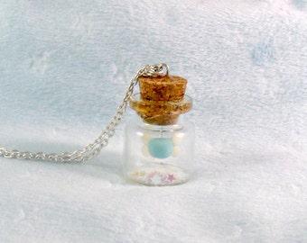 Glow In The Dark Fairy In A Bottle, Firefly Fairy Glitter Dust Necklace, Cute, Kawaii :D