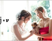 "White Bridal Veil - Wedding Veil - Elbow Length Petal Veil - White Veil - Petal Veil -  Veil With Petals - Elbow Length 25"" Inches"