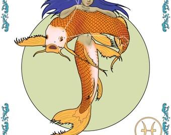 Mermaid zodiac - Pisces