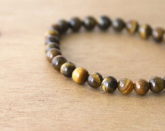 Tigers Eye  BRACELET 1 Anniversary bracelet, tiger eye bracelet, crystal healing bracelet, healing crystal jewelry