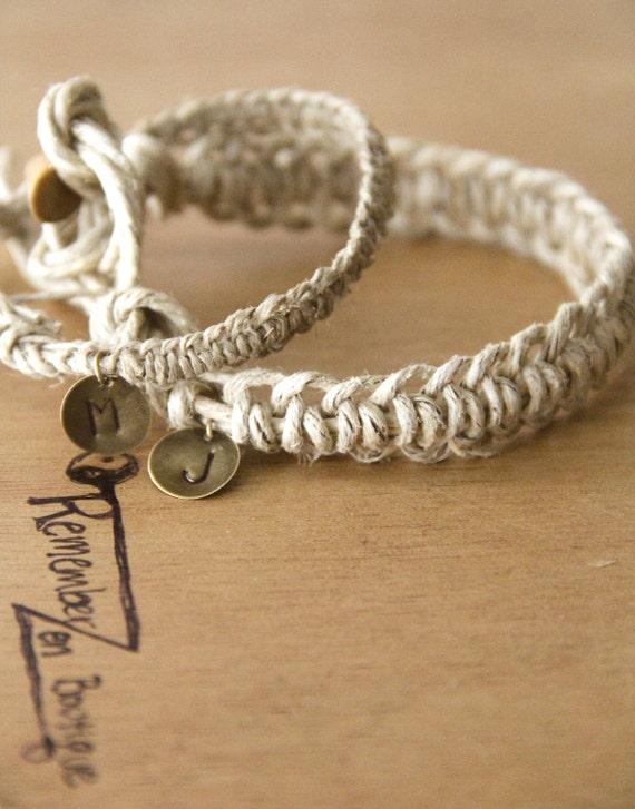 Items similar to COUPLES BRACELETS- 2 matching bracelets ...