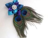 Peacock Clip (Purple)
