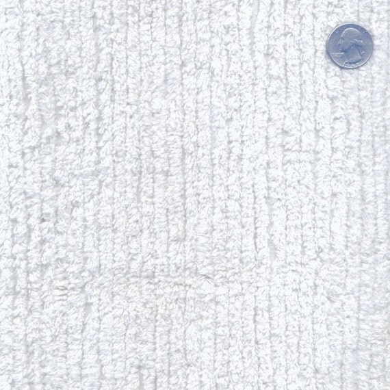 Terry Chenille White 57 Wide Cotton Fabric By The By