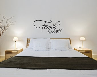 Family Vinyl Wall Decal Quotes Home Sticker Decor (J384)