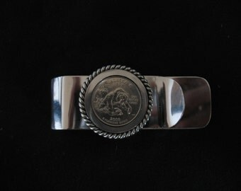 State Coin Money & Credit Card Clip