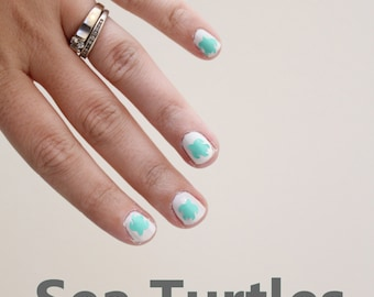 Sea Turtle Vinyl Nail Stickers x20