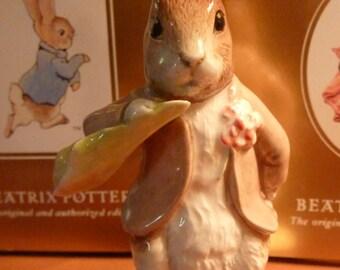 Beatrix Potter Benjamin Ate a Lettuce Leaf Royal Albert Figurine 1992