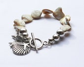 Seashell Bracelet 'Les offres de la plage' (White, Pearly, Sea, Seashells, Beads, Ocean, Silver)