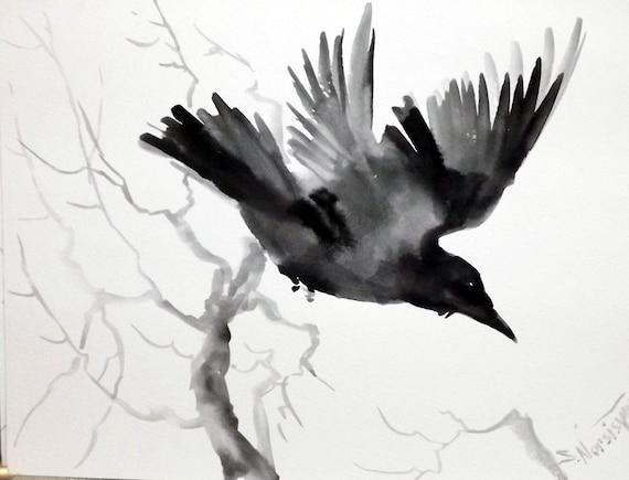 Flying crow original w...