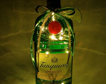 Tanqueray Gin Light Up Liquor Bottle - Lighted Decorated Bottle / Lamp / Bar / Party / Night Light