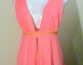 Sizzling PINK GRECIAN Lingerie Nightgown