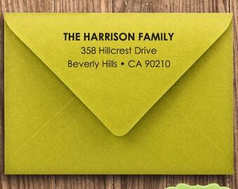 CUSTOM ADDRESS STAMP, personalized pre inked address stamp, pre inked custom address stamp, return address stamp with proof - Stamp b5-17