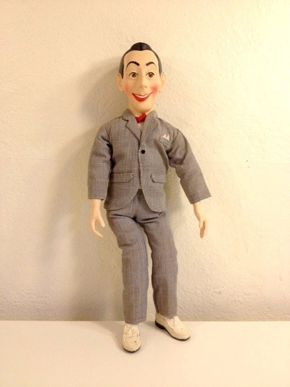 pee wee herman pull string doll 39 80s. Black Bedroom Furniture Sets. Home Design Ideas