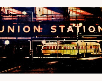 Photo Transferred onto Wood 'Union Station Kansas City' (free shipping)