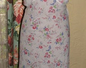 Vintage 1930's Bias Cut Sheer Cotton Flowers Ruffle Dress Lingerie Womens - Large