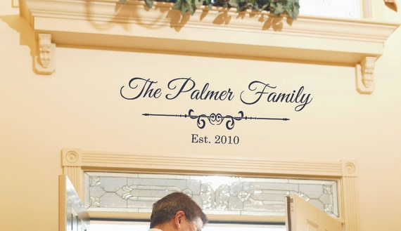 Family Name Wall Decal Established Year By Lcvinyldesigns