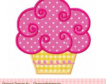 "Embroidery design Cupcake Machine Embroidery  Applique  -4x4 5x5 6x6"""