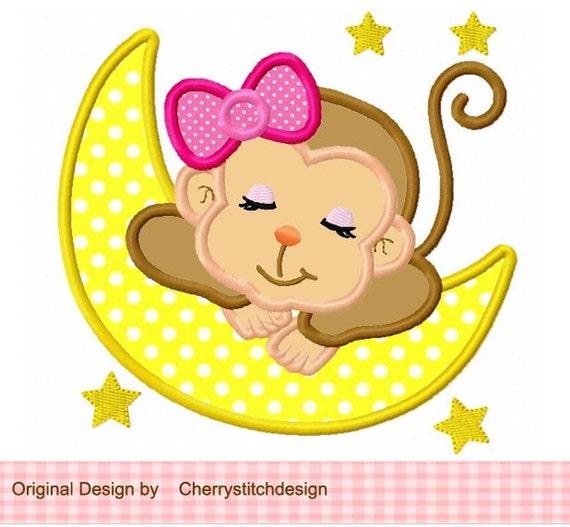 Dormir Beb Mono Para Apliques Digital Chicas 4 X 5 7 6 10
